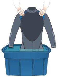 neoprenanzug waschen